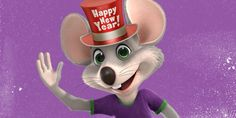 """Happy New Year 2015 From Charles """"""""Chuck E"""" Entertainment Cheese"""