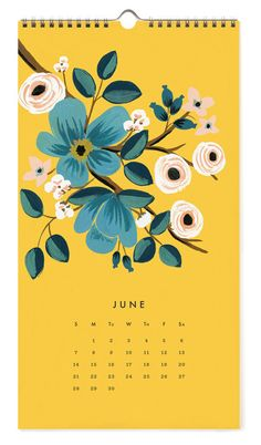 Les Fleurs 2015 Calendar