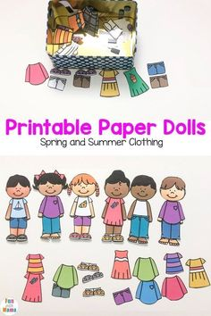 Printable Paper Dolls For Spring Summer Winter and Fall Printable Paper Dolls For Spring Summer Winter and Fall Fun with Mama The post Printable Paper Dolls For Spring Summer Winter and Fall appeared first on Paper Ideas. Paper Doll Template, Paper Dolls Printable, Paper Dolls Clothing, Paper Games, Easy Arts And Crafts, Dress Up Dolls, Fun Activities, Articulation Activities, Printable Activities For Kids