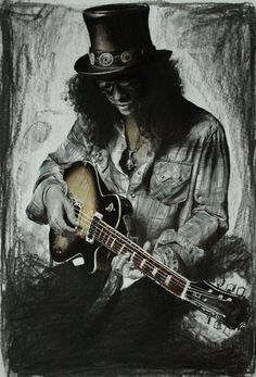 Slash by kadiliis. on - Musik Hard Rock, Music Wall, Music Artwork, Guns N Roses, Impression Poster, Arte Do Hip Hop, Art Sculpture, Guitar Art, Rock Posters