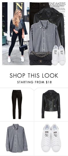 """So Fresh: White Sneakers"" by martinabb ❤ liked on Polyvore featuring Yves Saint Laurent, adidas Originals and Chanel"