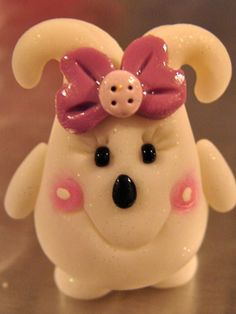 The Original HERSHEY (Parker's Sister)  Polymer Clay Character by KatersAcres - Copyright 2010 by @KatersAcres
