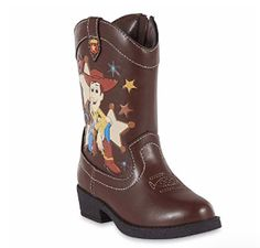 "Woody Boots!  Sizes 6 - 12  Side zipper makes fitting easy 1"" block heel, round toe, decorative stitching gives kids all the western boot flair for patrolling the grounds"