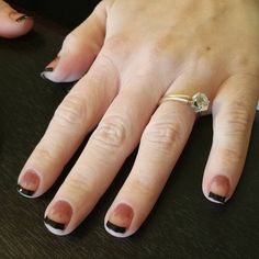 """""""#jamberrynails #ohm #frenchtips"""""""