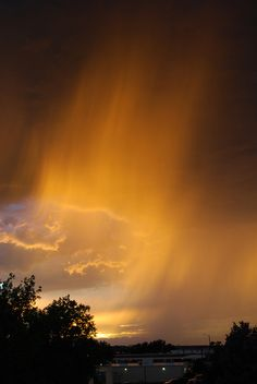 Glowing Virga at Sunset