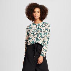 Women's Collarless Button Up Blouse