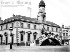 The Corn Exchange, Market Place.  Photo from Leicester Mercury