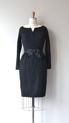 Mam'selle dress vintage 1960s cocktail dress black by DearGolden