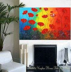 2DAY SALE Original 36 gallery canvas Abstract by artmod on Etsy