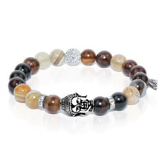 Worthy One - Grey Line Agate Buddha Dharma Stone Bracelet The Worthy One bracelet, of the Characteristics of Buddha Series, is crafted from Grey Line Agate Stones. Agate is soothing and multi-faceted; it represents rejuvenation and variety. - See more at: http://www.josephnogucci.com/collections/dharma-stone/products/dharmastone-worthy-one