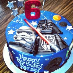 Star Wars Cake Decoration Kit Darth Vader vs by CupcakeSupply