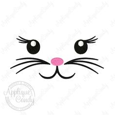 Easter Bunny Face Solid Fill 3 Machine Embroidery Design 3x3 4x4 5x5 6x6 5x7 Basket Bag INSTANT DOWNLOAD by AppCandyEmbroidery on Etsy