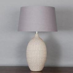 Lounge table lamp (dunelm) grey/neutral