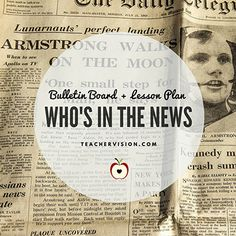 """Who's in the News"" Bulletin Board + Lesson Plan https://www.teachervision.com/current-events/lesson-plan/7209.html?utm_content=bufferf97b7&utm_medium=social&utm_source=pinterest.com&utm_campaign=buffer #CurrentEvents #SocialStudies"