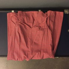 Fit & flare dress pink and black stripe NWOT. Pink and black stripes. American Eagle Outfitters Dresses