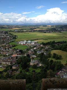 View from the Wallace Monument towards Bridge of Allan. Last day in Stirling.