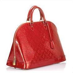 My newest love...  The Alma GM bag in Pomme D'Amour (Red) by Louis Vuitton (LV)!
