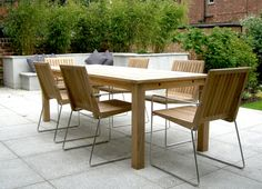Contemporary Garden Furniture: Beautiful And Rich . elegant contemporary garden furniture awesome contemporary garden furniture ideas best home LRKFKXW Contemporary Garden Furniture, Modern Garden Furniture, Diy Outdoor Furniture, Furniture Ideas, Space Furniture, Garden Table, Garden Chairs, Patio Table, Teak Table