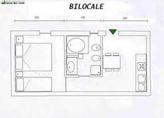 Risultati immagini per pianta monolocale 30 mq design