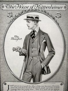 """This was what """"lounge suits"""" used to look like for young men..."""