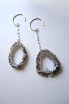 agate geode earrings
