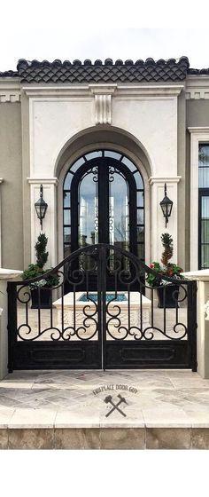 Ideas For House Front Door Entrance Wrought Iron Tor Design, Gate Design, House Design, Design Case, Entrance Gates, House Entrance, Entry Doors, Entrance Ideas, Door Entryway