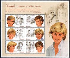 Grenada 1997 Diana Princess of Wales Commemoration Sheetlet Fine Mint SG 3497/3502 Scott 2723 Other West Indies and British Commonwealth Stamps HERE!