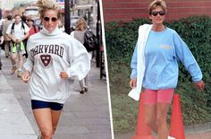 Princess Diana's bike shorts inspired this Paris Fashion Week show  ||  Off-White is bringing back the royal's retro athleisure style. https://www.wellandgood.com/good-looks/off-white-princess-diana-bike-shorts/?utm_campaign=crowdfire&utm_content=crowdfire&utm_medium=social&utm_source=pinterest