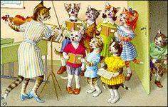 "CatStuff: Mainzer Dressed Cat Postcards ~ ""Choir Rehearsal"""