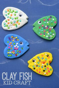 Clay fish - a craft idea for a pond or ocean unit in preschool or pre-k