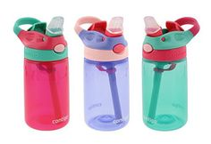Contigo Kids Water Bottle, 3 Pack Autospout Gizmo - Plastic, - Leak and Spill Proof Bottles, Ideal for Travel and Activities, Easy-Clean and Dishwasher Safe - Press The Button For Pop Up Straw Bpa Free Bottles, Baby Bottles, Water Bottles, Contigo Kids, Spongebob Birthday Party, 3rd Birthday, Baby Girl Items, Water Bottle With Straw, Bottle Box
