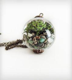 Stone Terrarium Orb Necklace