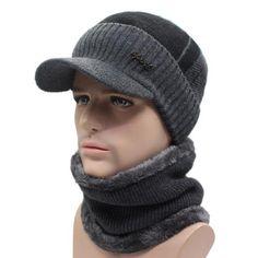 Men's Accessories Bright 2018 Winter Hat Scarf Set Unisex Mix Color Knit Beanies Velvet Hat Men Cap Women Warm Thicken Hedging Caps Ski Soft Ring Scarf
