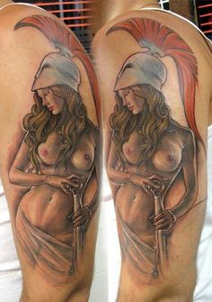 Athena tattoo. WOW. this is mindblowing.