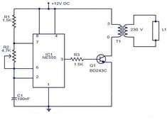 Efficient flyback driver circuit using ic-555