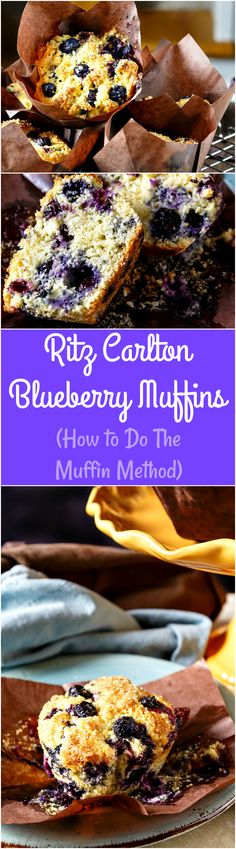 Not only is this a fantastic base recipe for making huge blueberry muffins bursting with blueberries, but you can vary the Ritz Carlton Blueberry Muffin Recipe with spices, nuts, different fruits, adding streusel, etc. More important than all of that, though, is making sure you mix them so they bake up tender and not tough. If you don't know the muffin method, I will teach you! | pastrychefonline.com