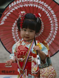 She's so cute. Japanese shichi go san festival.
