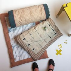 jørgen & gaspard | baby plaids | blankets |  natural dyes |  natural colors | shibori | yellow | handcrafted | for kids | black clogs | indigo