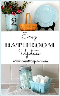 How To Update A Bathroom (Easy Bathroom Update!) via On Sutton Place