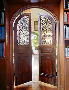 Awesome wood and iron Antique doors