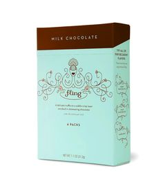 Chocolate packaging; great mix of flourishy illustration and clean type