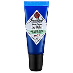 Jack Black. Intense Therapy Lip Balm. Mint. Vanilla. Grapefruit. Lemon.