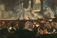 Edgar Degas — «Musicians in the Orchestra», 1872