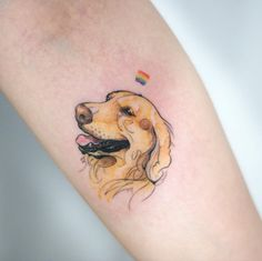 Golden Retriever Tattoo by Doy