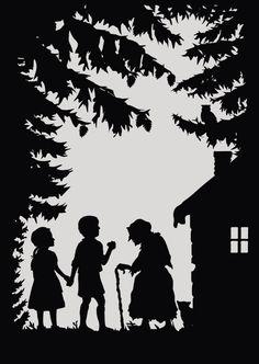 Heidelberg: Fairy Tale Postcards - Laura Barrett - London Based Freelance Silhouette & Pattern Illustrator - Illustration Portfolio