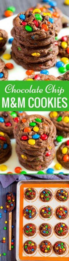 Chocolate Chip M&M Cookies
