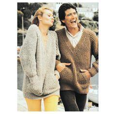 Instant Download PDF Knitting Pattern Ladies or Mens SLOPPY