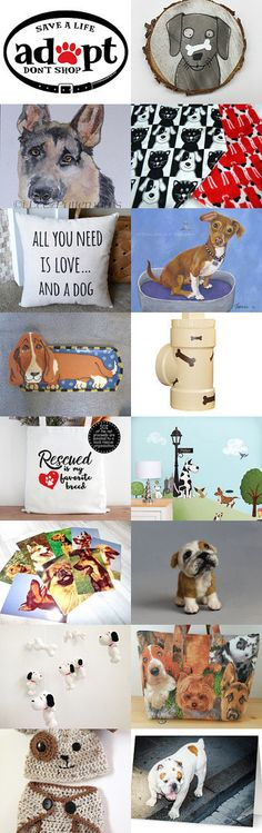 RESCUE DOGS .....ADOPT DON'T SHOP  by Bohemianredjewelry on Etsy--Pinned+with+TreasuryPin.com