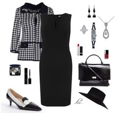 Black by dmiddleton on Polyvore featuring John Lewis, Fontana Couture,  Prada, Givenchy,