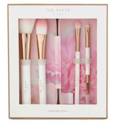 Ted Baker ~ Treasured Tools ~ Cosmetic Brushes Set ~ inc Foundation Brush Pretty Packaging, Beauty Packaging, Ted Baker Makeup, Ted Baker Accessories, Cosmetic Brush Set, Tips & Tricks, Makeup Collection, Best Makeup Products, Beauty Products
